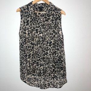 H&M Leopard Animal print sheer sleeveless top